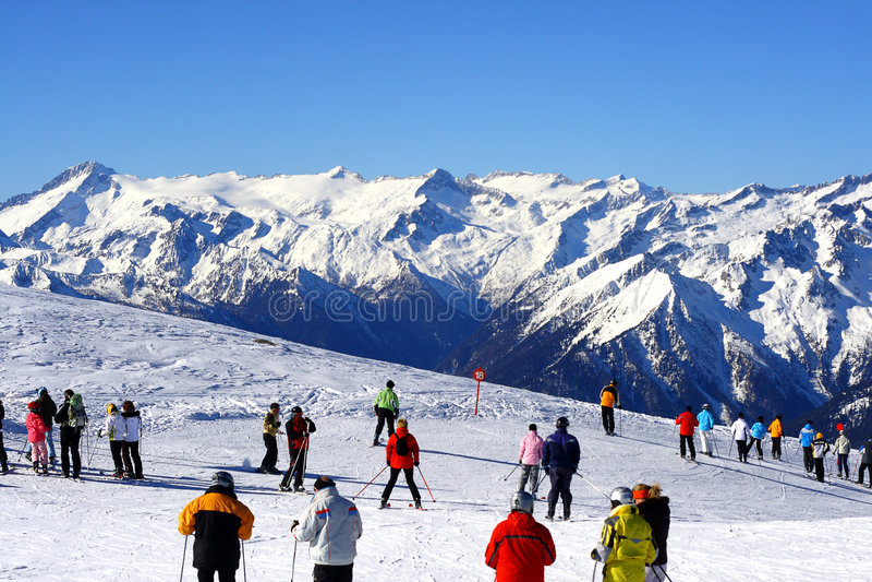 наклон лыжи стоковое фото rf