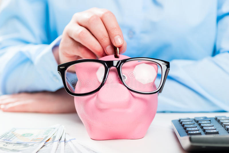 Накопление денег легко! стоковая фотография rf