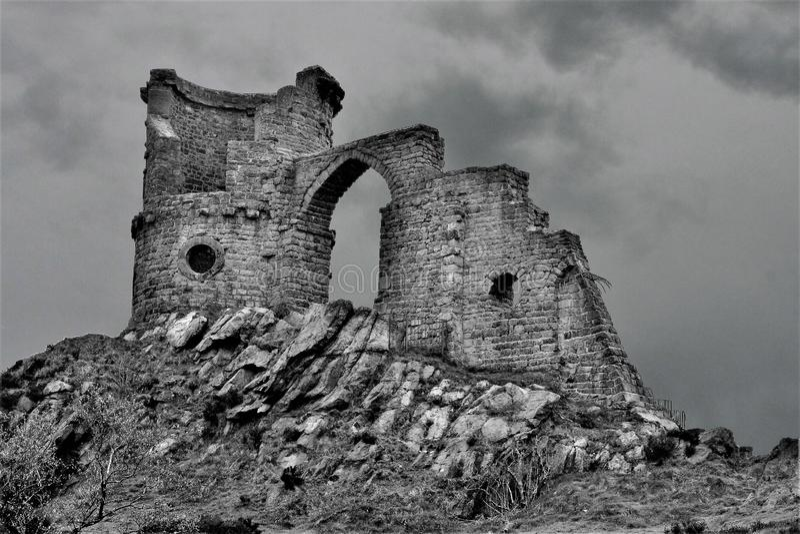 Накосите замок полисмена, на границах Стаффордшира/Чешира стоковые изображения rf
