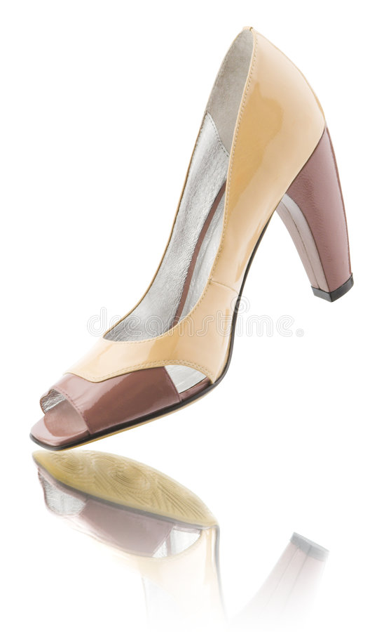 накрененный высокий ботинок стоковое изображение rf