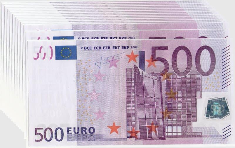 накрените веревочка примечания дег фокуса 100 евро 5 евро иллюстрация вектора