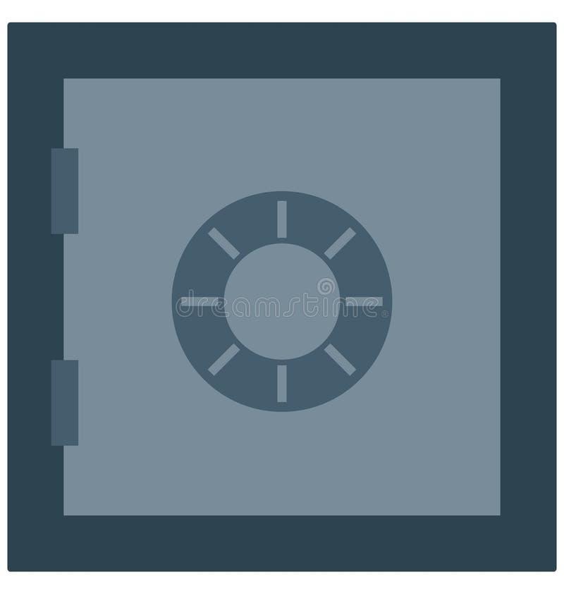 Накрените сейф, банковское хранилище изолированные значки вектора смогите быть доработайте с любым стилем иллюстрация вектора