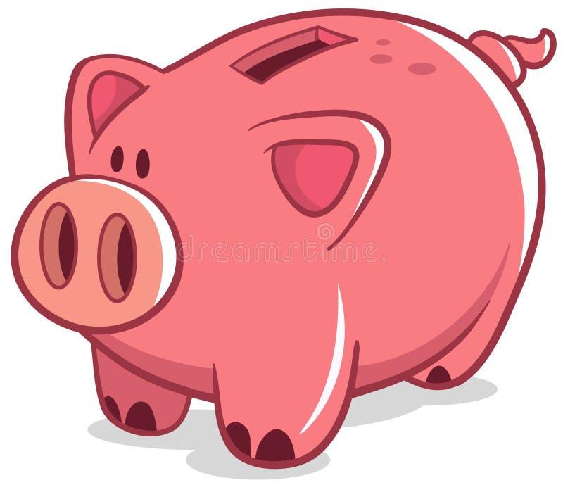 накрените piggy иллюстрация вектора