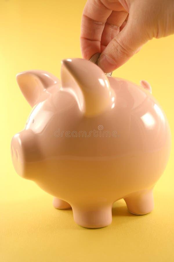 накрените piggy стоковые фотографии rf
