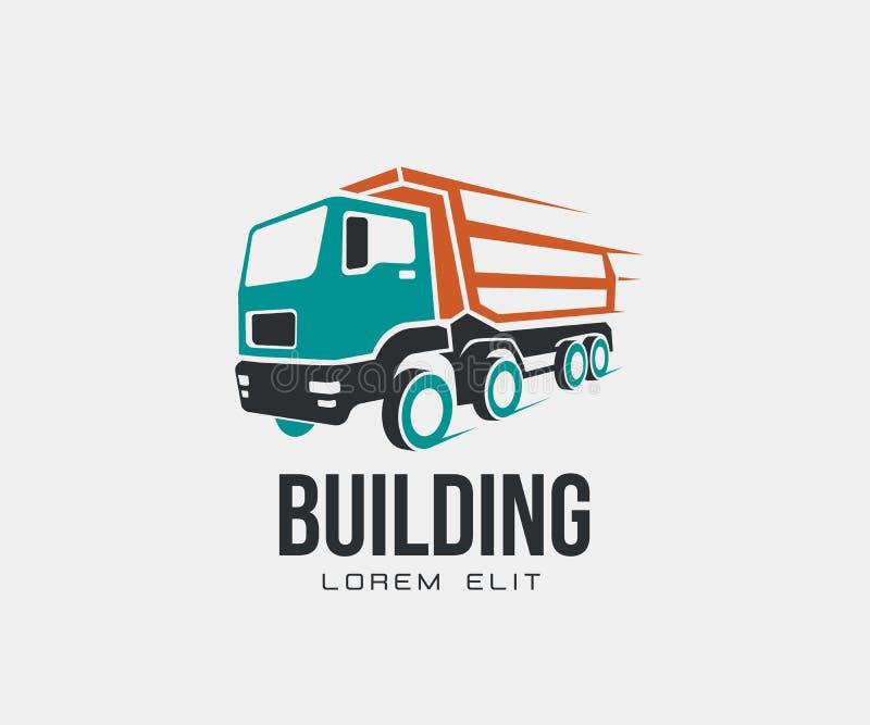 Наклоните логотип значка тележки абстрактный на белой предпосылке иллюстрация штока