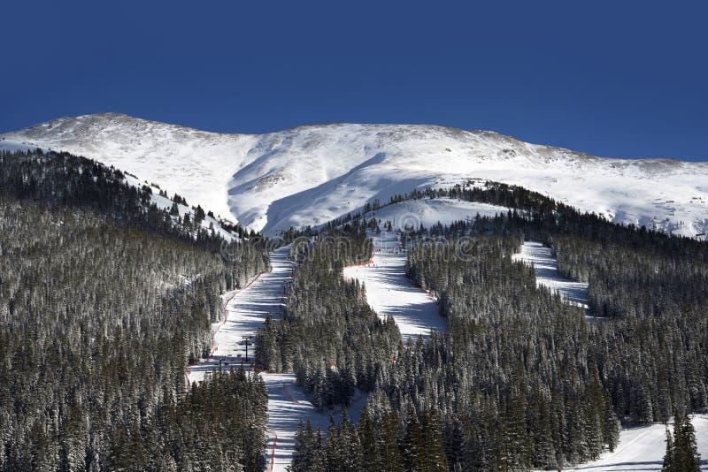 Наклоны лыжи Колорадо стоковое фото rf