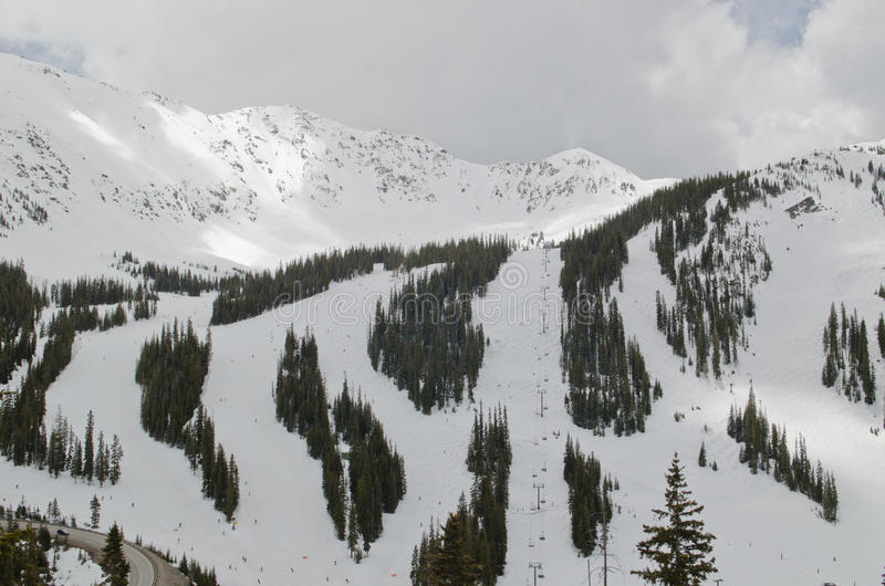 Наклоны лыжи Колорадо стоковое изображение