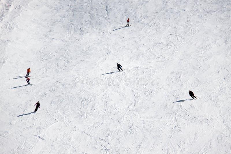 Наклон лыжи стоковые фотографии rf