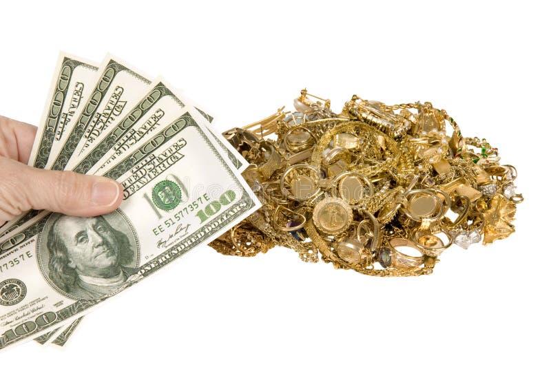 Наличные деньги для золота стоковое изображение rf