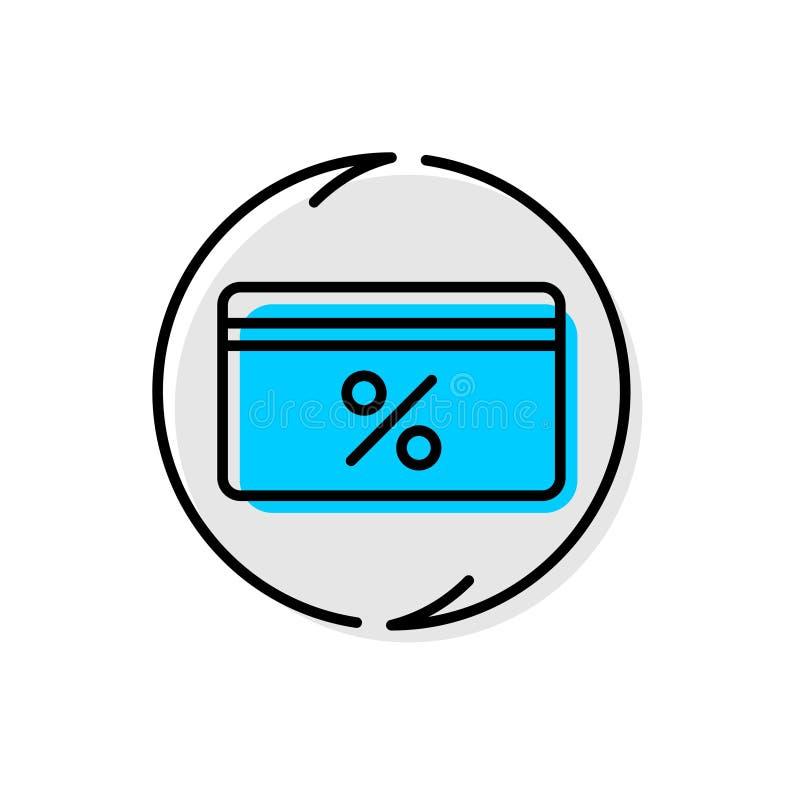Наличных денег значок обслуживания назад Линия символ концепции Cashback  иллюстрация штока
