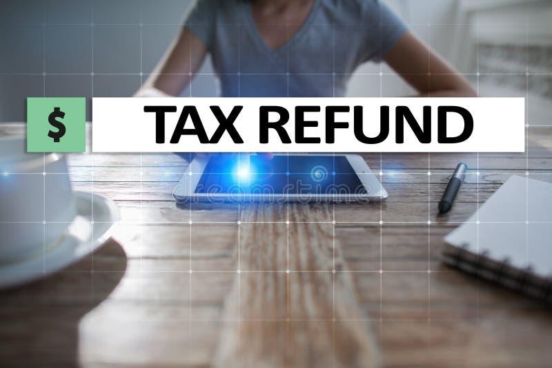 Налоги оплатили индивидуалами и корпорациями как vat, доход и налог на личное состояние Концепция финансовых и интернета стоковое изображение
