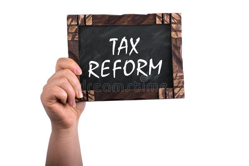 Налоговая реформа на доске стоковая фотография