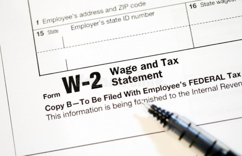 Налоговые формы США стоковое изображение rf