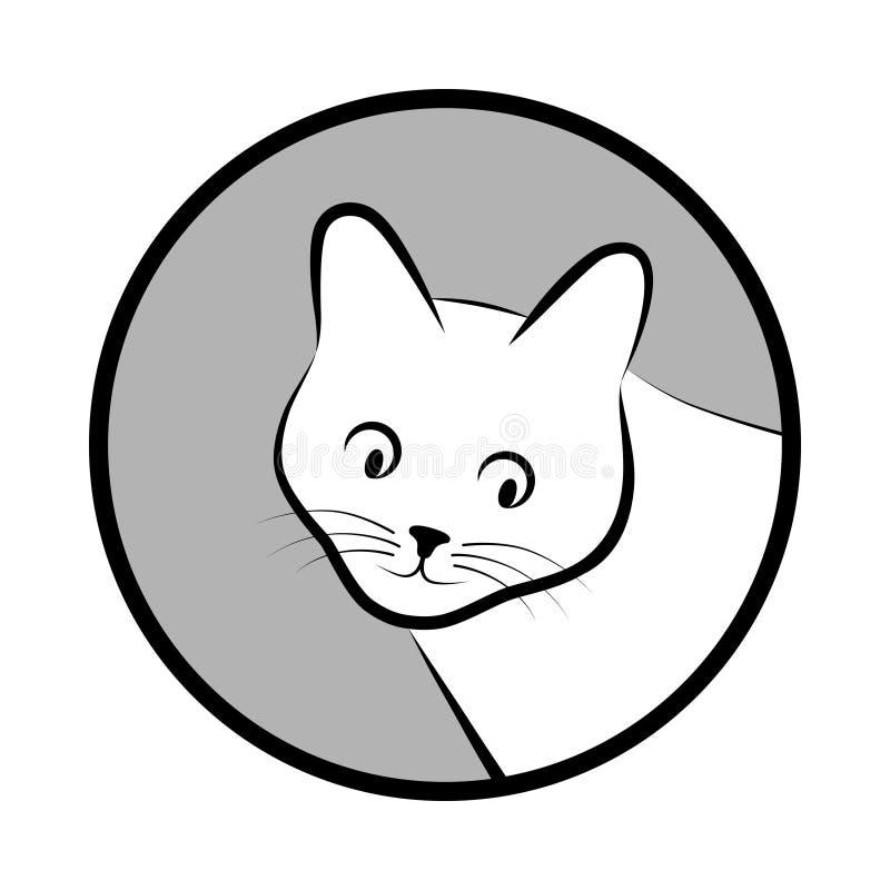 Намордник кота в круге иллюстрация вектора