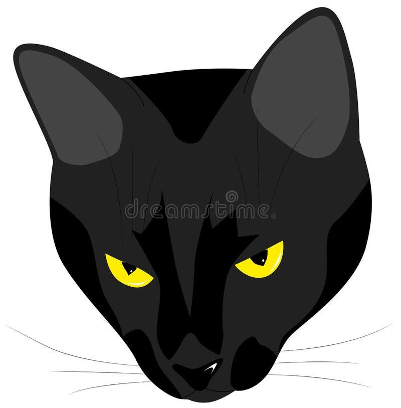 Намордник злого черного кота бесплатная иллюстрация