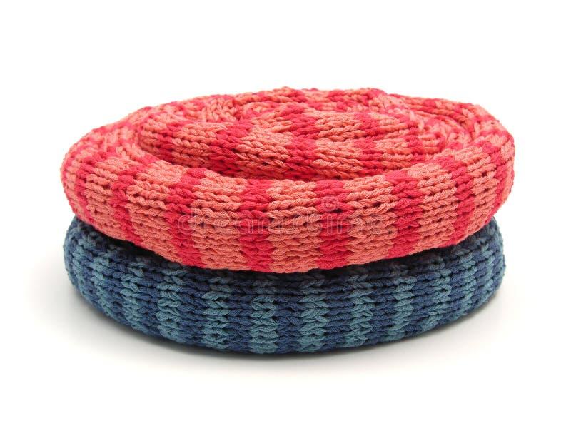 намотанные шарфы вверх стоковое фото rf
