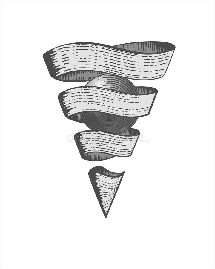 Намочите камень или камень философа, центральный главным образом символ мистической алхимии геометрия священнейшая иллюстрация штока