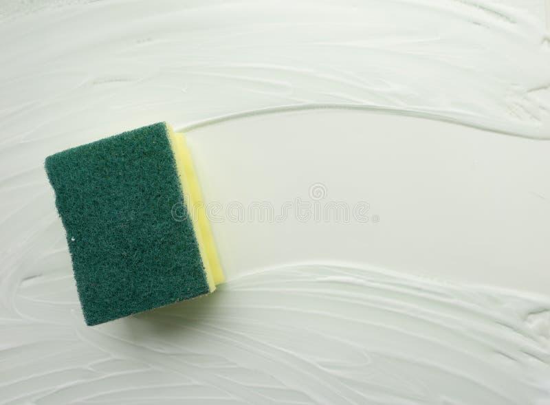 Намылил мыть губки поверхность мыла Абстрактная простая предпосылка, фон вопроса чистки иллюстрация штока