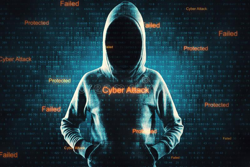 Нападение вируса и концепция malware стоковое изображение rf