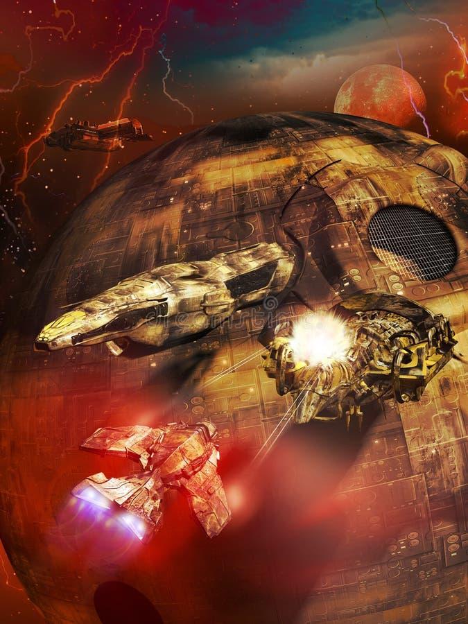 Нападение корабля бесплатная иллюстрация