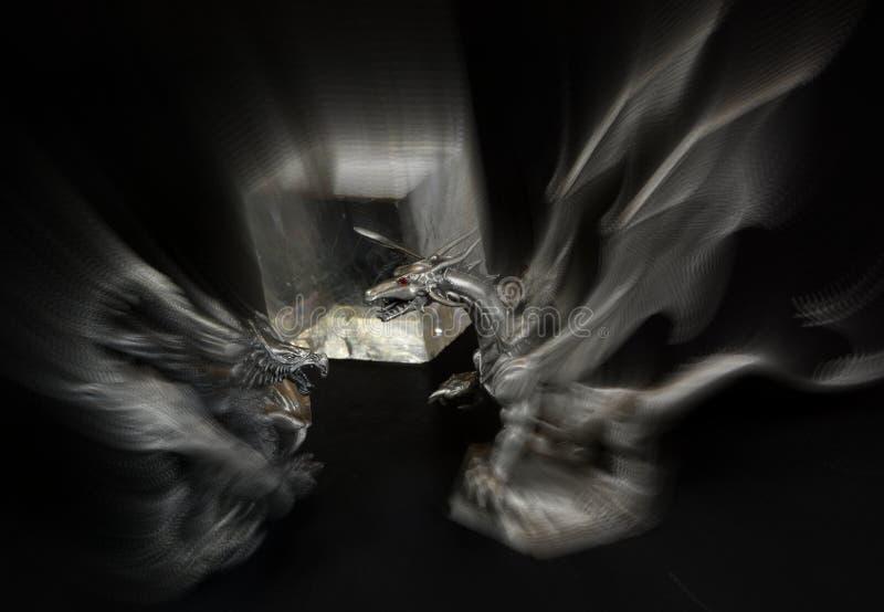 Нападение драконов стоковое изображение rf