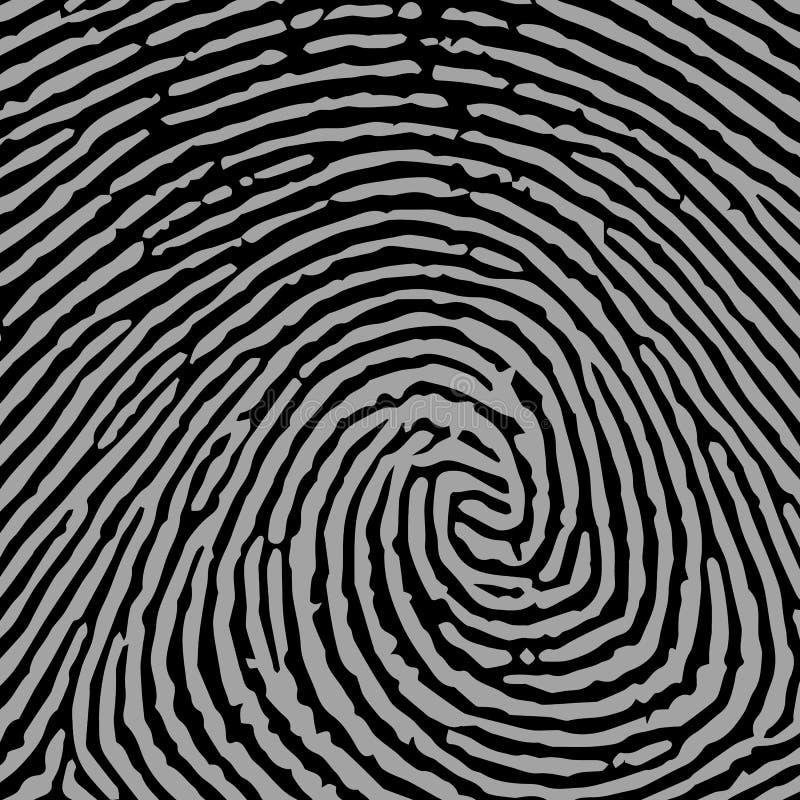 Напечатайте безопасность thumbprint большого пальца руки идентичности злодеяния вектора отпечатка пальцев пальца уникально бесплатная иллюстрация