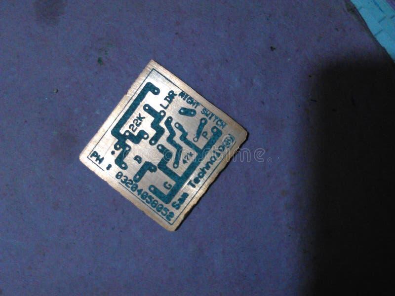 напечатанная цепь доски стоковое изображение rf