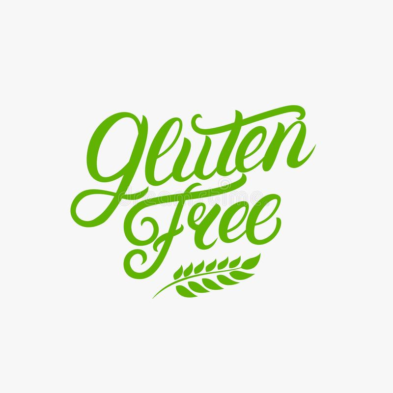 Написанная свободная рука клейковины помечающ буквами логотип, ярлык иллюстрация вектора