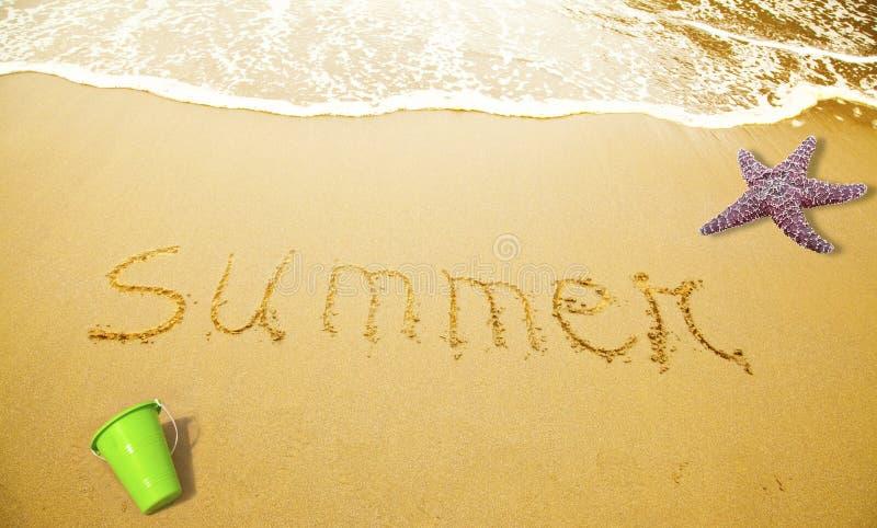 написанное лето песка стоковые изображения