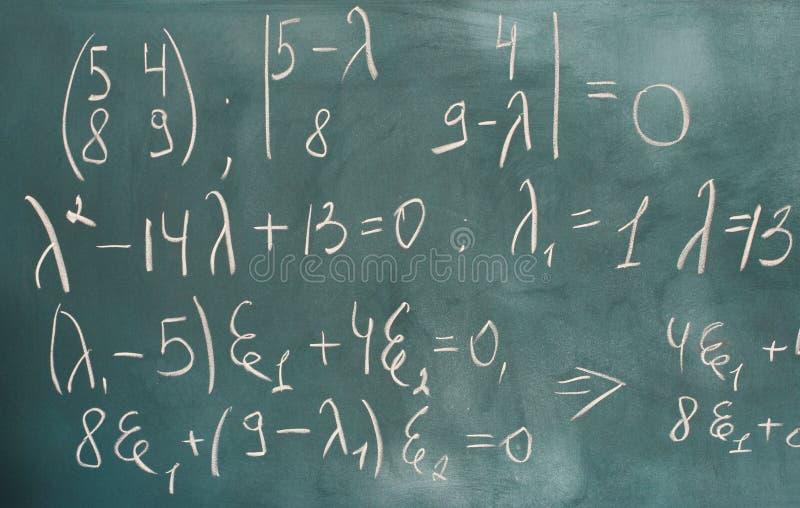 Написанные формулы стоковые изображения