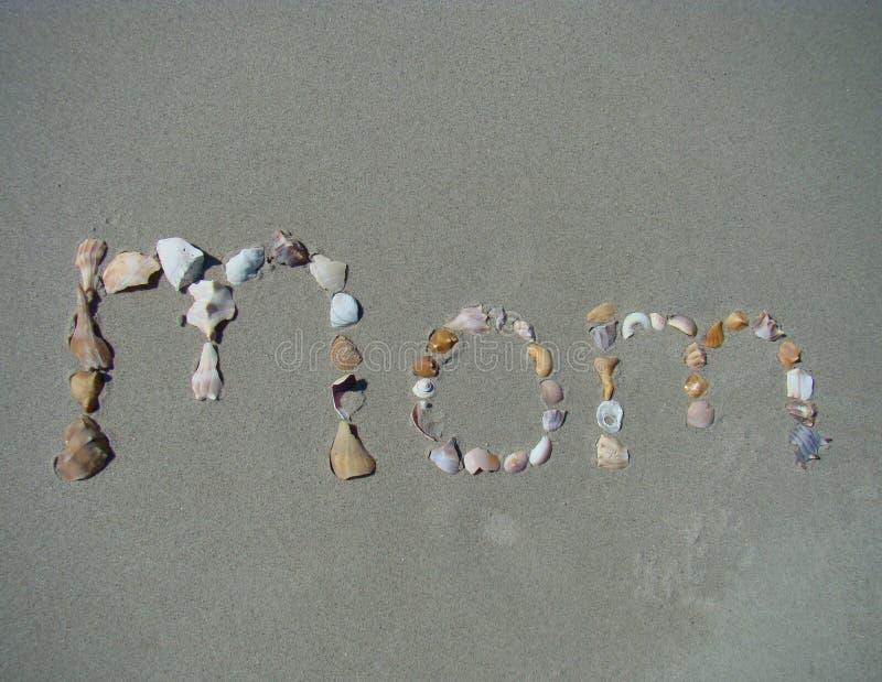 написанный песок мамы стоковые изображения rf