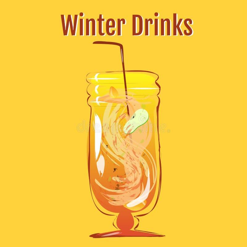 Напитки зимы | Sbiten бесплатная иллюстрация