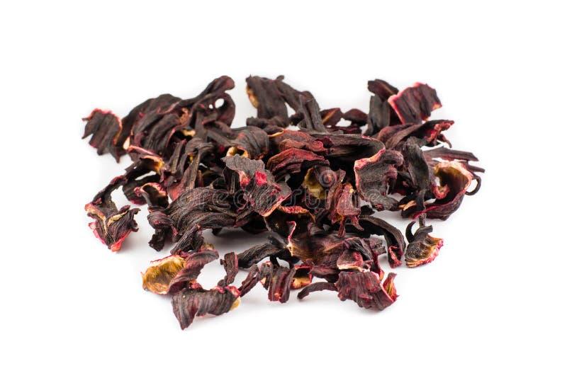 Напиток чая Carcade Сухие листья суданской розы стоковые фото