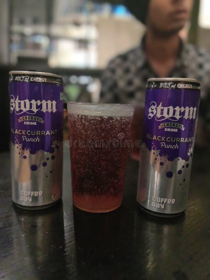 Напиток энергии шторма кофе Café стоковое изображение rf