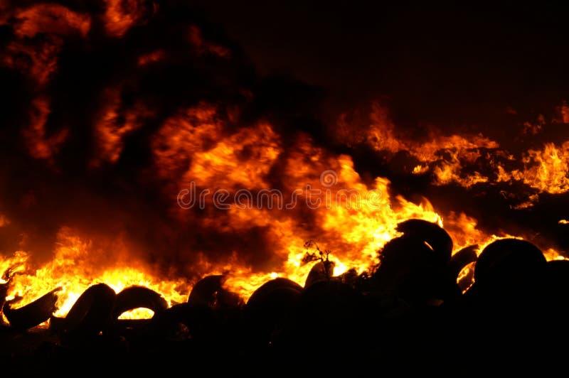Наполните газом взрыв, огонь и разрушение, большой случай, стоковая фотография