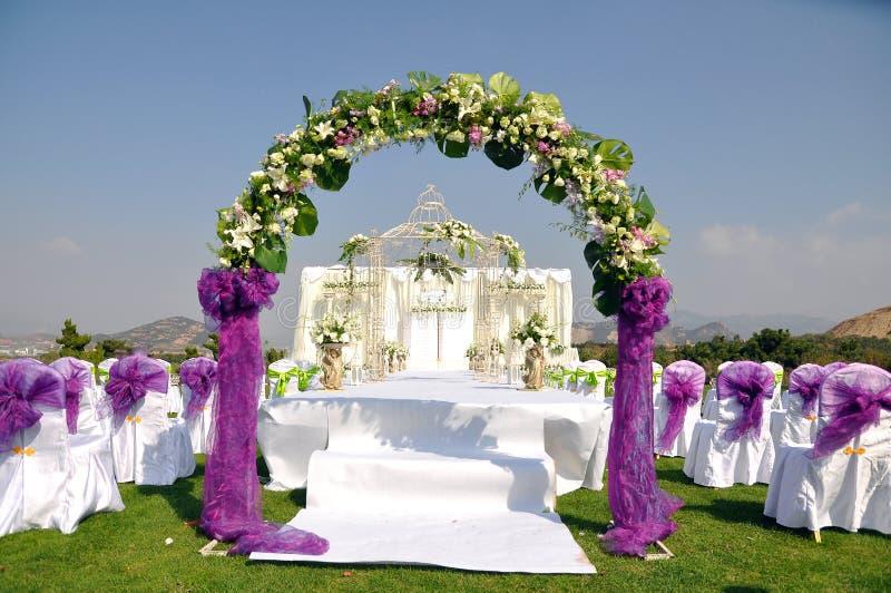 напольное венчание места стоковые изображения
