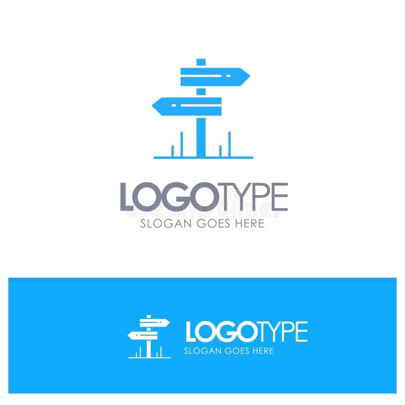 Направление, гостиница, мотель, вектор логотипа комнаты голубой бесплатная иллюстрация