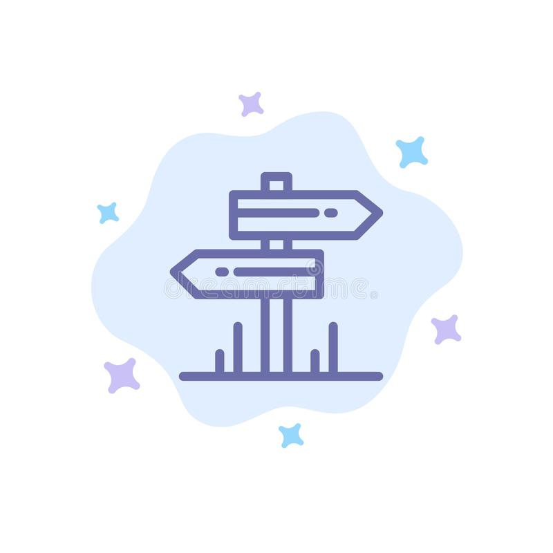Направление, гостиница, мотель, значок комнаты голубой на абстрактной предпосылке облака иллюстрация вектора