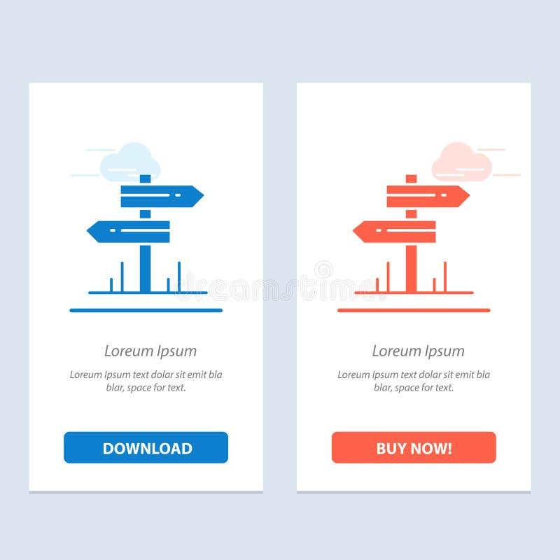 Направление, гостиница, мотель, синь комнаты и красная загрузка и купить теперь шаблон карты приспособления сети бесплатная иллюстрация