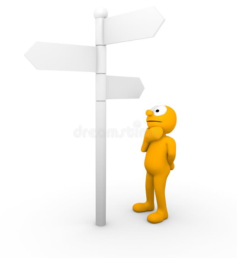 направление которое иллюстрация вектора