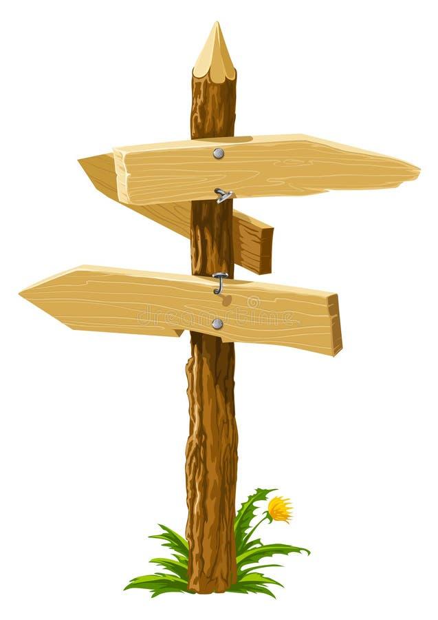 направление перекрестков стрелок деревянное бесплатная иллюстрация