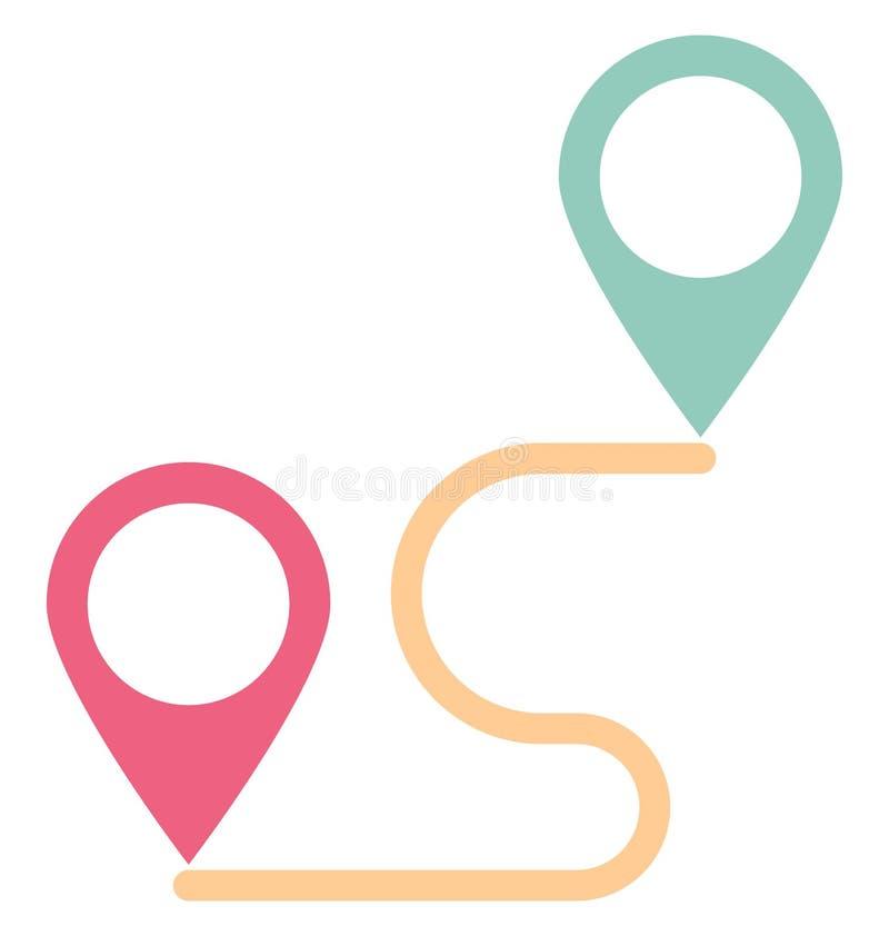 Направление, расстояние изолировало значок вектора который может легко доработать или отредактировать иллюстрация штока