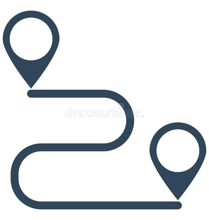 Направление, расстояние изолировало значок вектора который может легко доработать или отредактировать бесплатная иллюстрация