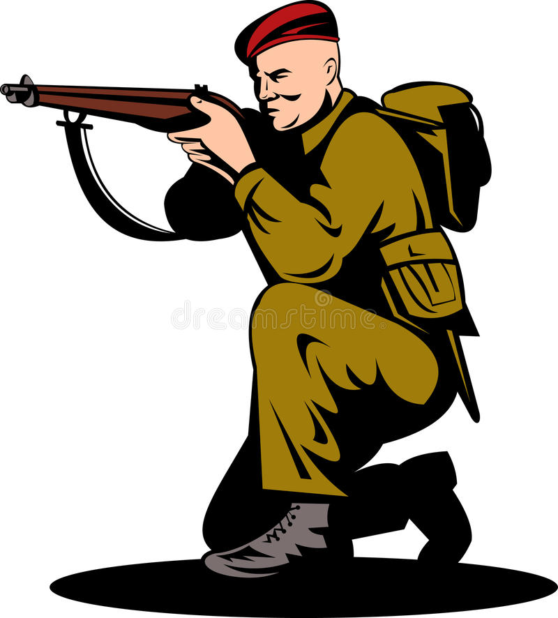 направлять великобританского воина винтовки бесплатная иллюстрация