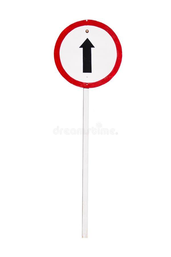 направление идет изолированное движение знака прямое стоковое фото