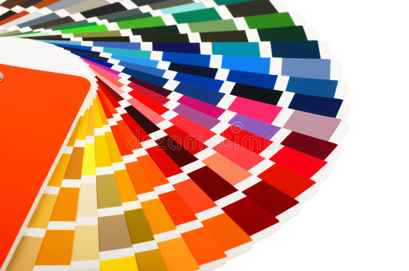 направляющий выступ цвета карточки близкий вверх стоковое изображение