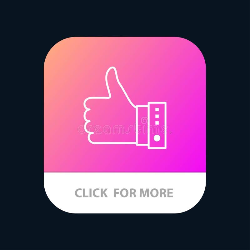 Например, Finger, Gesture, Hand, Thumbs, Up, Yes Mobile App Button Версия строки Android и IOS бесплатная иллюстрация