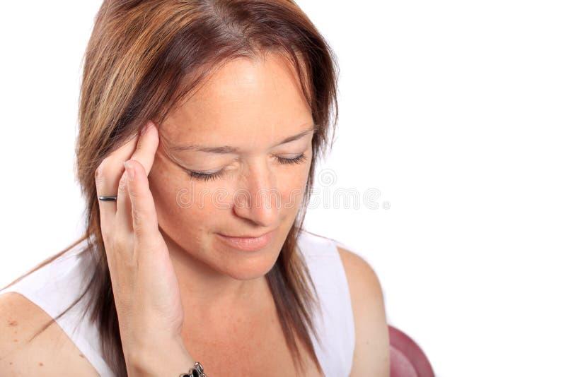 напряжение головной боли стоковое изображение rf