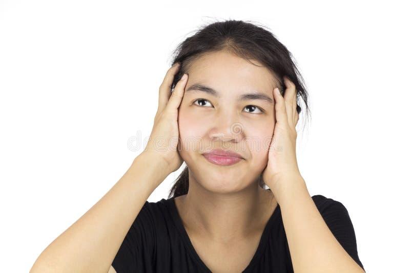 Напряжение женщины стоковые фото