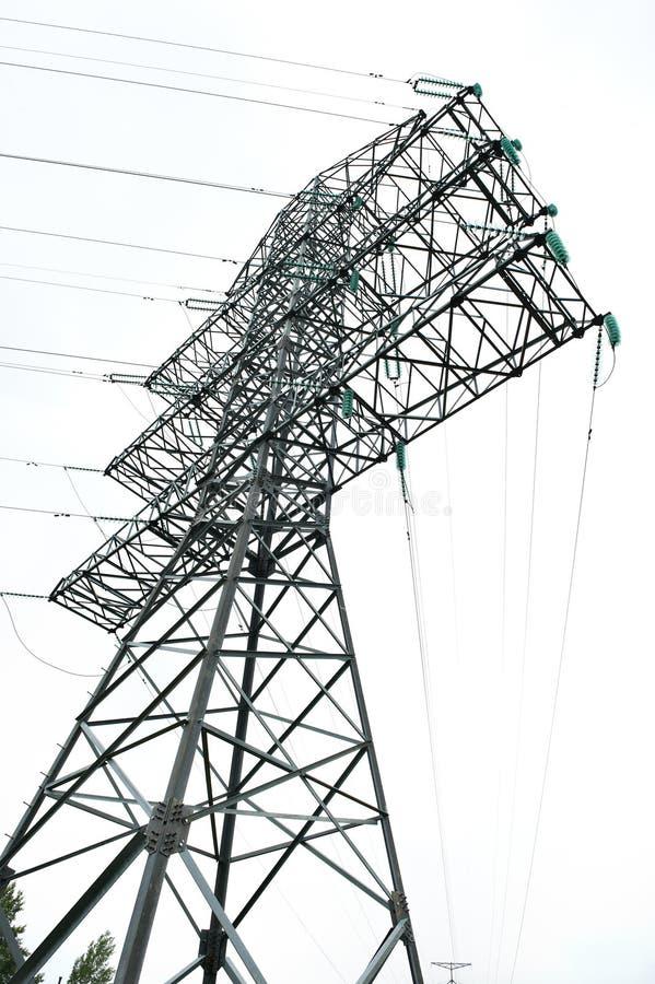 напряжение тока башни наивысшей мощности electrick стоковая фотография rf